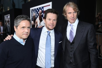 Brad Grey, Mark Wahlberg, and Director Michael Bay