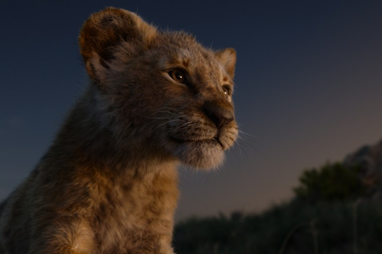 Still from The Lion King (2019) - Young Simba