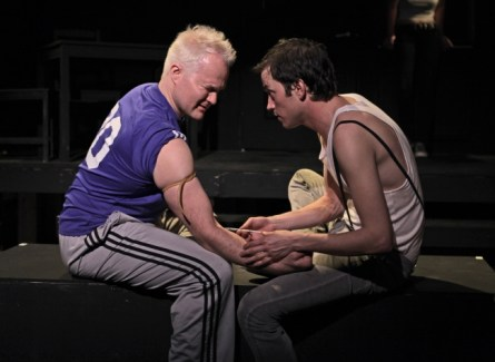 David Agranov and Justin Zachary in 'Trainspotting'.(Courtesy of Tyson Wade Johnston)