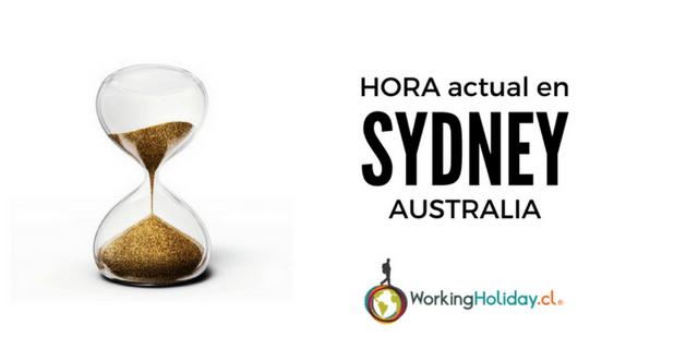 hora actual en Sydney australia