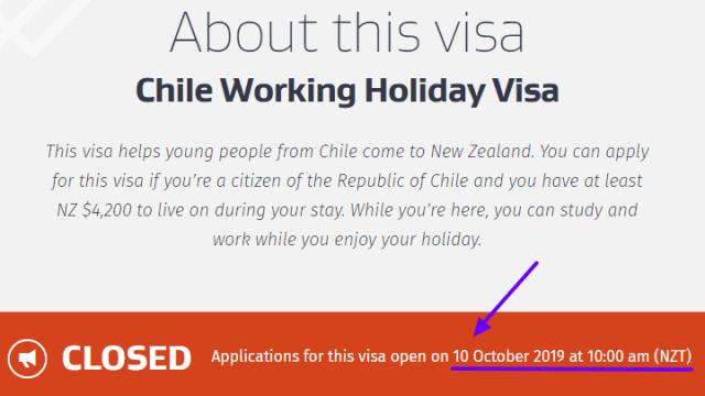 New Zealand requisitos working holiday 2019 Nueva Zelanda Zelandia