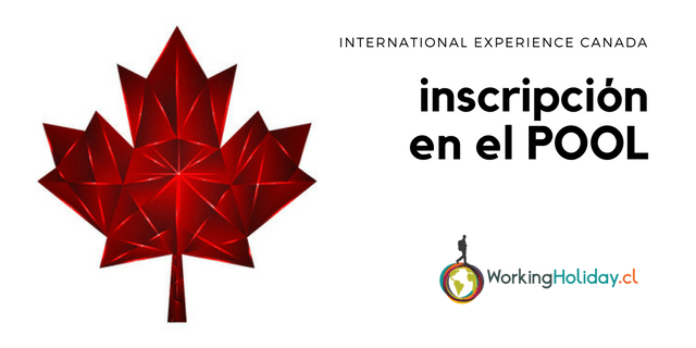2018 Pool Inscripcion International Experience Canada