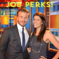 My job has its perks… like meeting David Beckham