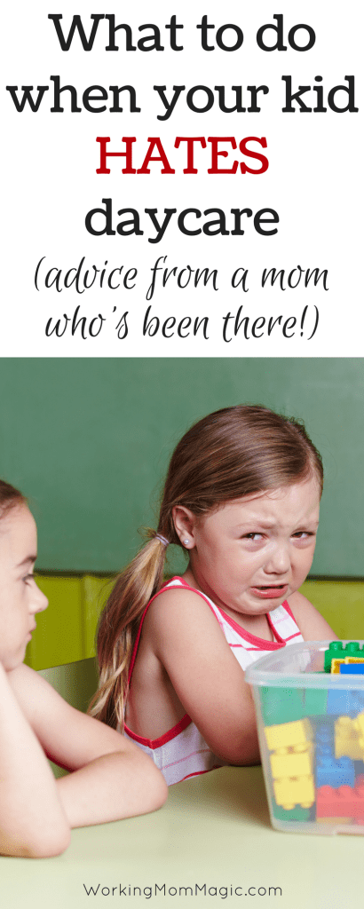 What to do when your kid HATES daycare pinterst