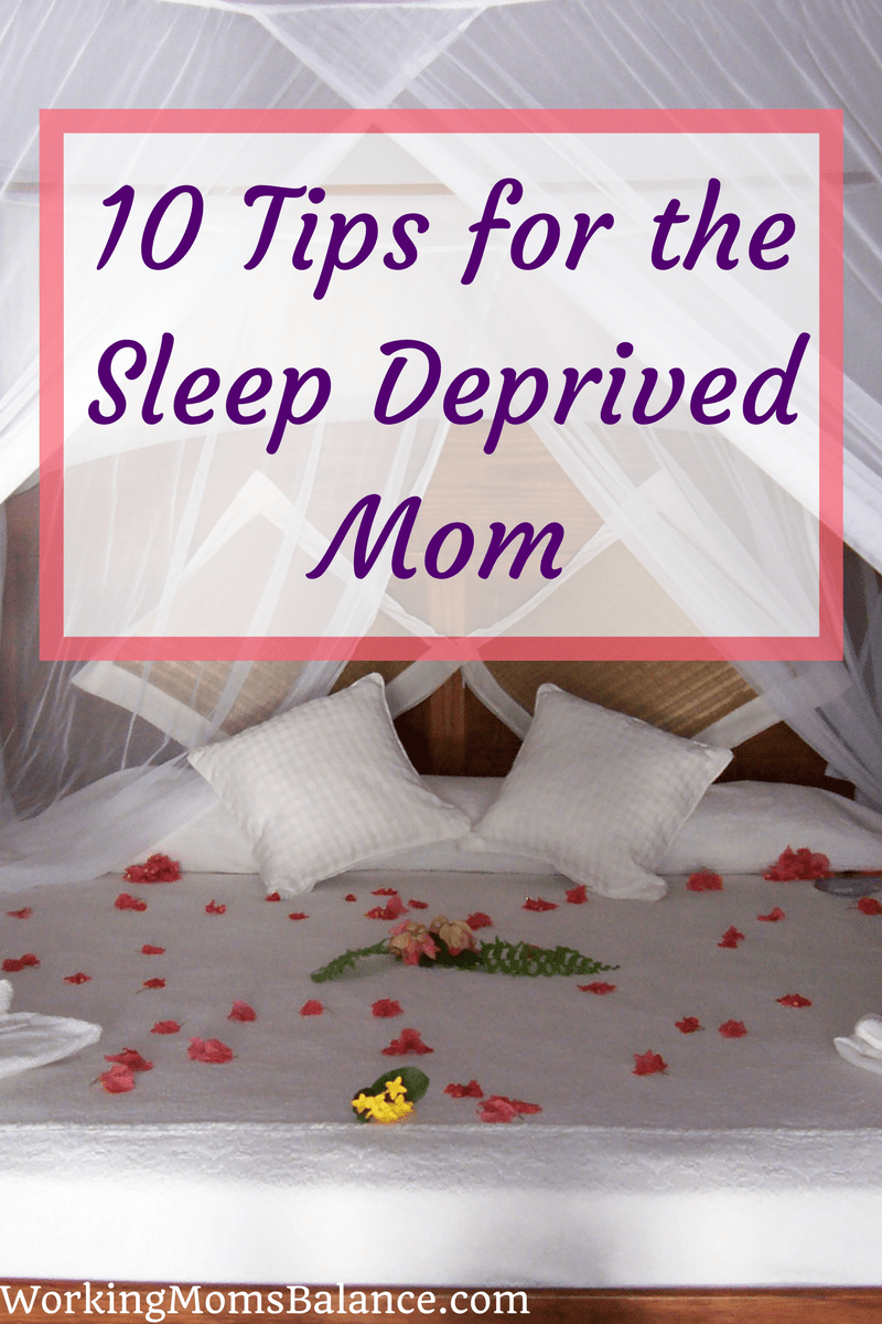 Being a mom to young children means many sleepless nights and lots of exhaustion. While you are in this season of life it can be incredibly difficult to keep up with everything. This post shares 10 tips to help sleep deprived moms survive the tired days.
