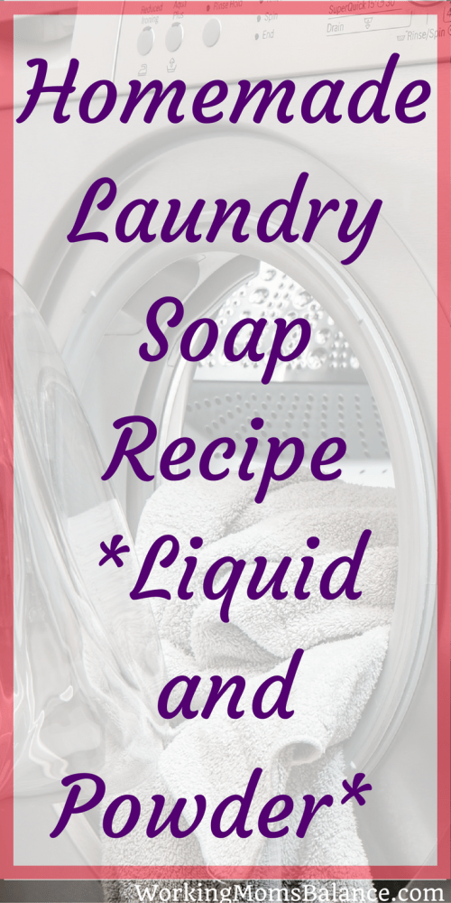 Use these DIY laundry soap recipes to make your own homemade laundry detergent. We've included recipes for both powdered laundry soap and liquid laundry soap so you can choose whichever fits your situation best.