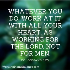 work with all your heart