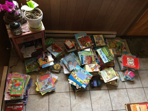 I think the kids have plenty to read.