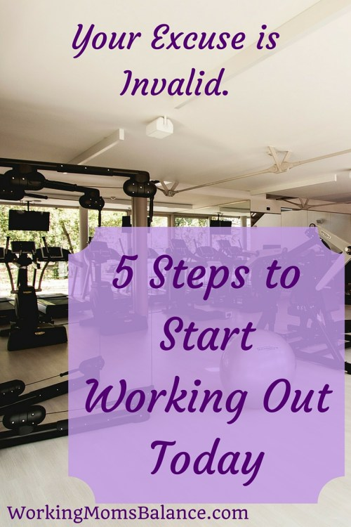 Do you have a long list of excuses for why you can't exercise? It's time to stop making excuses and playing the victim. Use these 5 steps to take back control and start working out today.