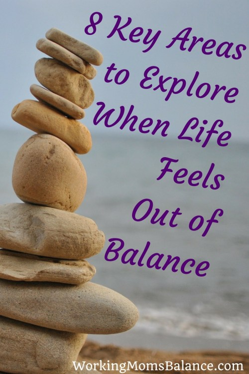Moms have a lot of responsibilities in life. Here are 8 key areas to explore and consider in your life to find out what changes you need to implement in order to find balance.