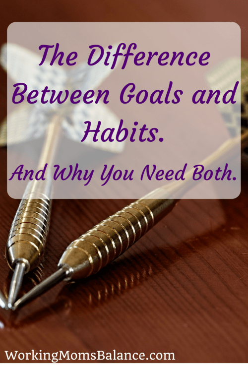 When making plans and dreams for the future it's important to develop both goals and habits to help you achieve your dreams. This post explains the difference between goals and habits to help you determine how to create them and make them work for you.