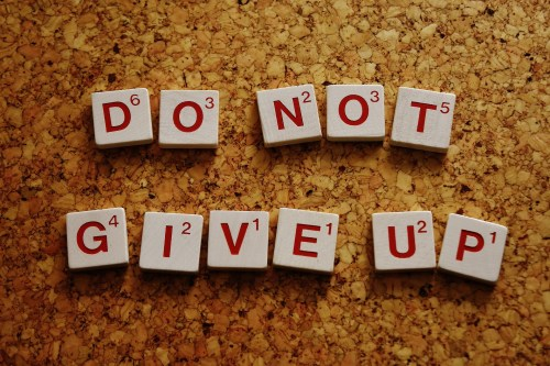 do not give up too soon when you are starting to exercise
