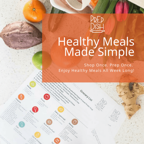 healthy meal planning with prep dish