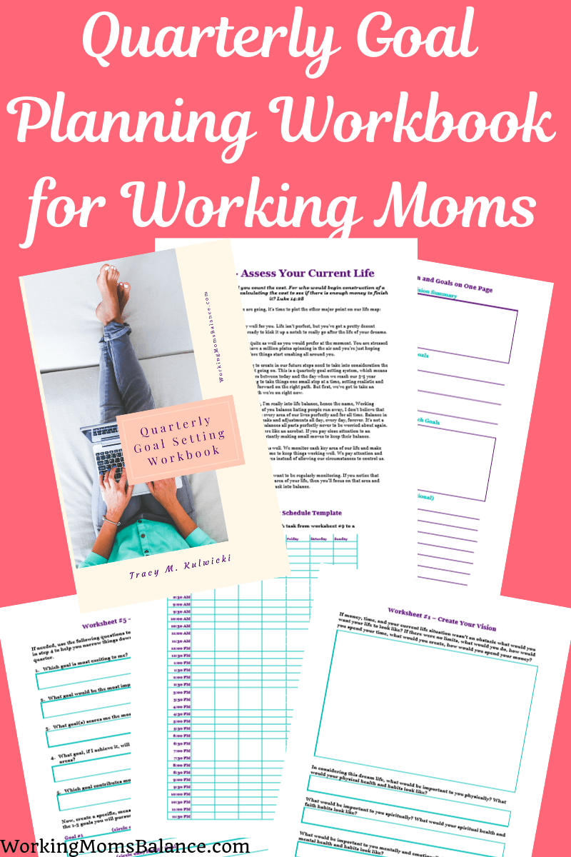 This printable quarterly goal planning workbook includes 12 worksheets withing 50 pages of teaching to guide you step by step through the planning process. You will create a vision, assess your current life, determine focus areas, set goals, create plans, develop a schedule, and monitor your progress all along the way. Grab your copy today. #goals #printable #worksheet #personalgrowth
