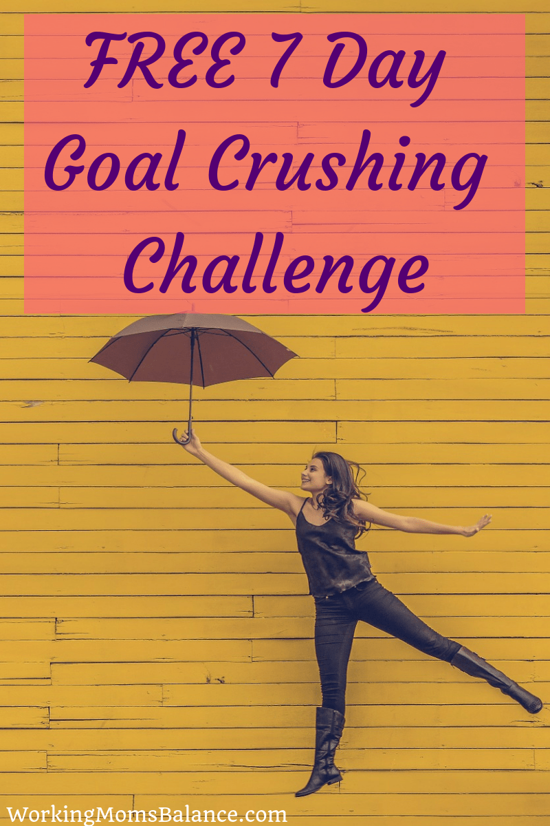 Sign up for my free 7 day goal crushing email challenge to empower, motivate, and encourage you to achieve your biggest goals. #goals #goalsetting #freechallenge