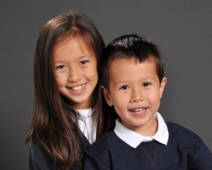 Big sister and little brother photo
