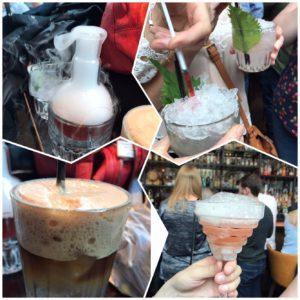 Cocktail drinks at Alchemist bar