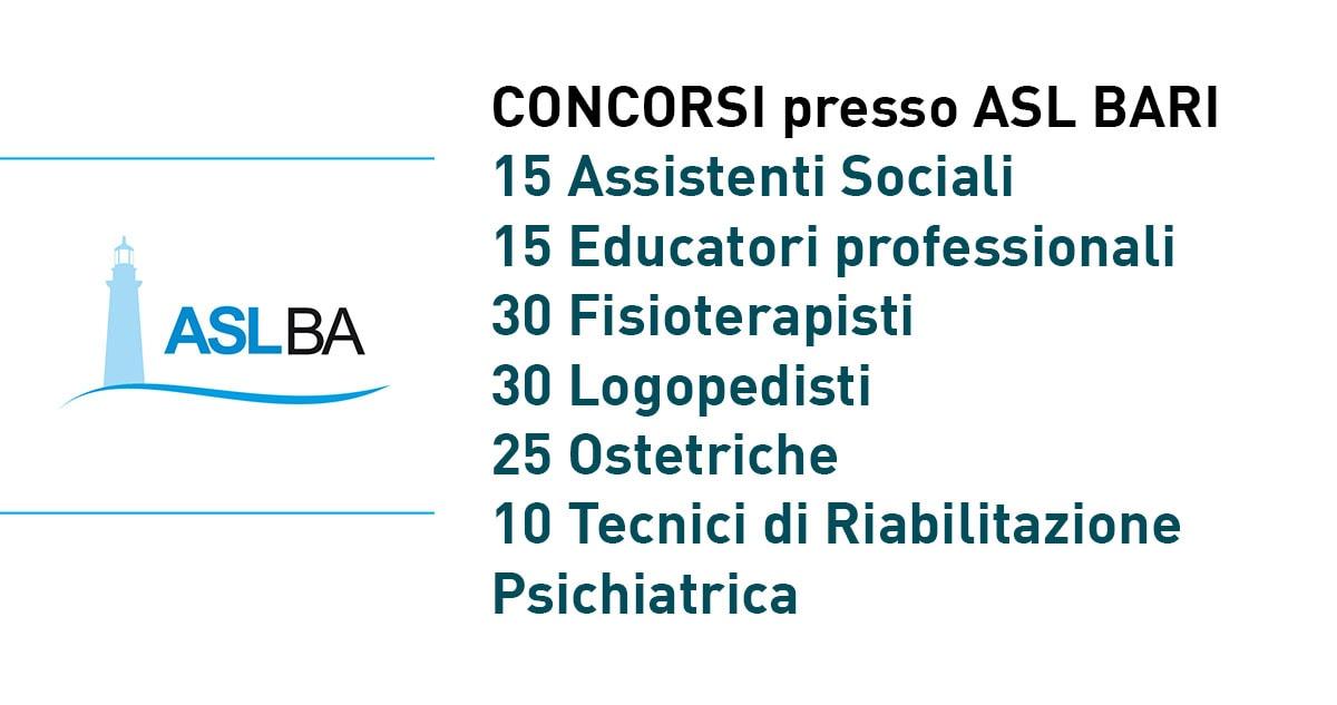 Asl Bari Concorsi 2019 Per Assistenti Sociali Educatori