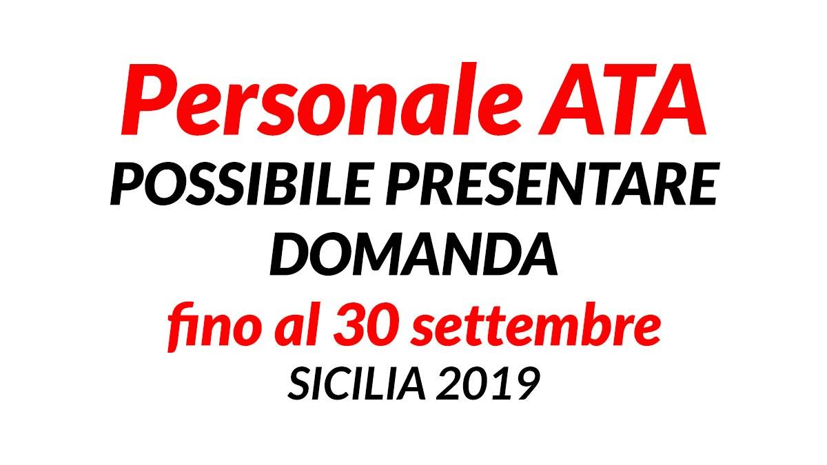 Personale Ata Possibile Presentare Domanda Sicilia 2019