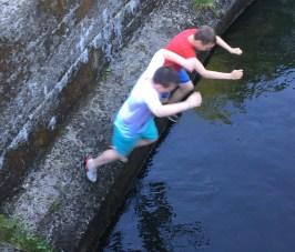 River jumping fun!