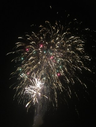Fabulous display to welcome in the new year (well, at 9pm!)
