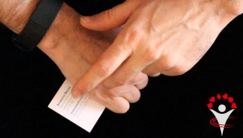 Hand Out Business Card With Magic Phone Trick