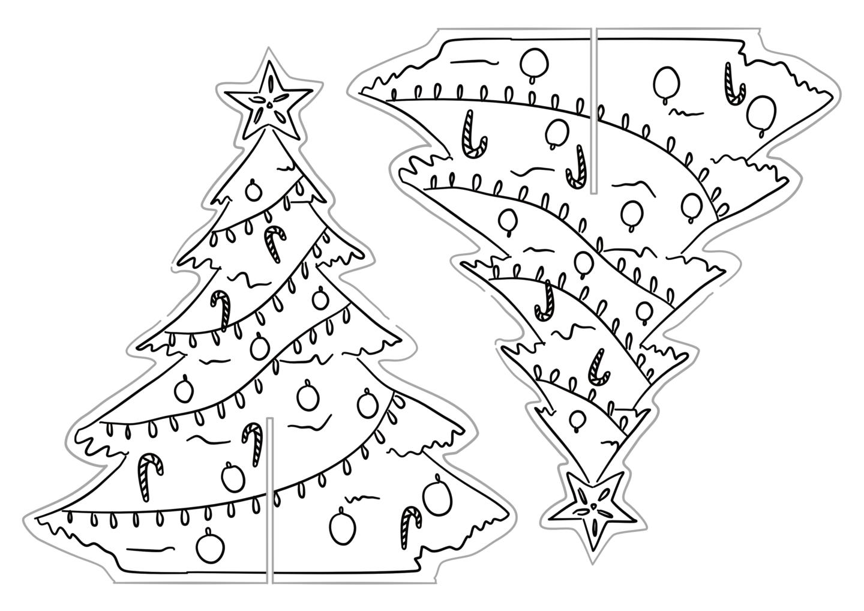 Printable Christmas Tree Decoration Work Over Easy