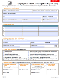 With this incident log template, you get in your grasp the perfect tool to use in the making of incident logs for your institution. Employer Incident Investigation Report Form 52e40 Worksafebc