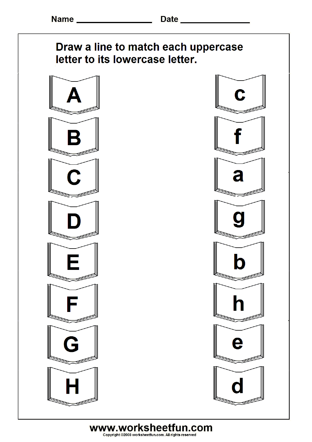 Match Uppercase And Lowercase Letters 11 Worksheets