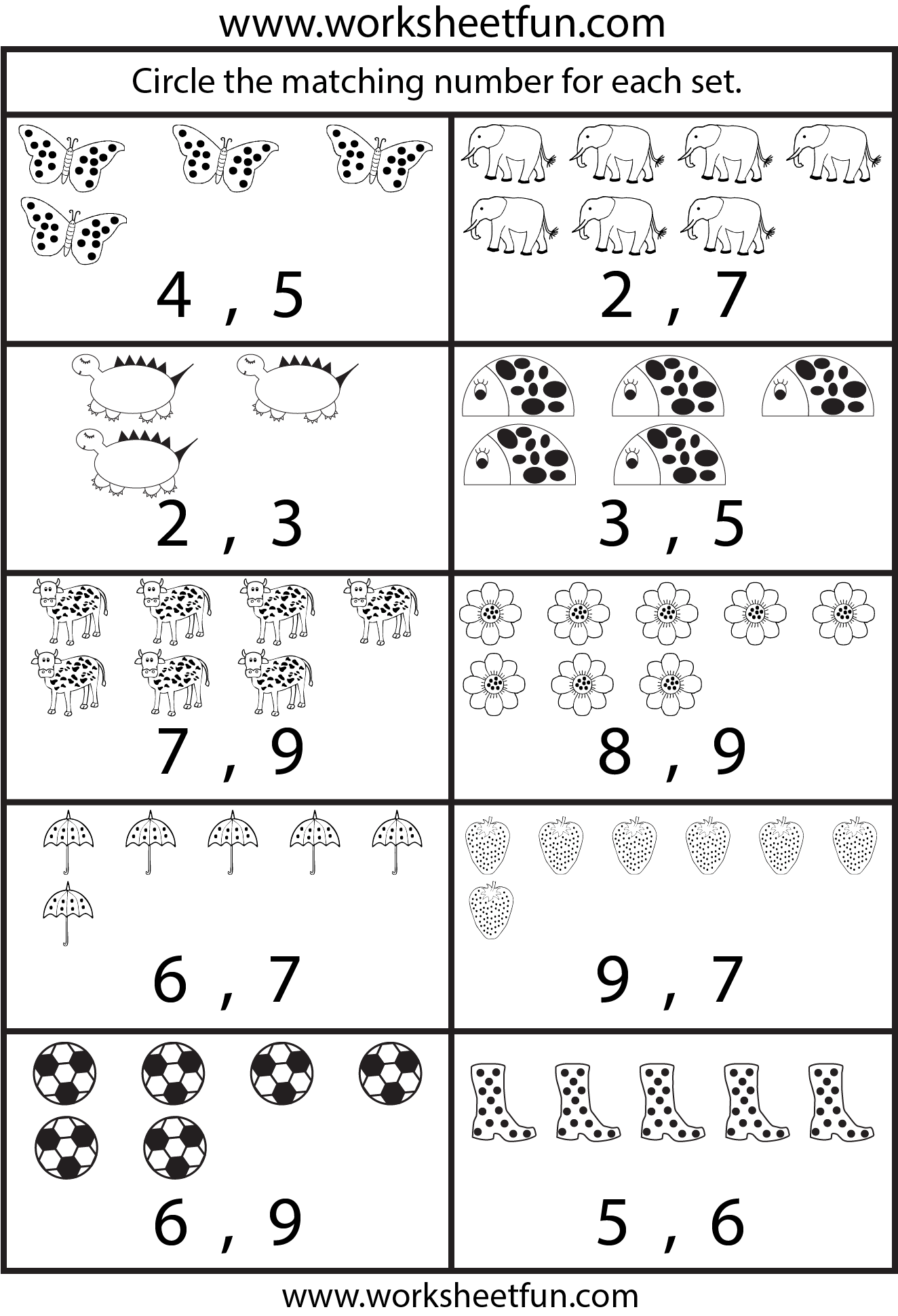 Worksheet Of Number 1 To 50