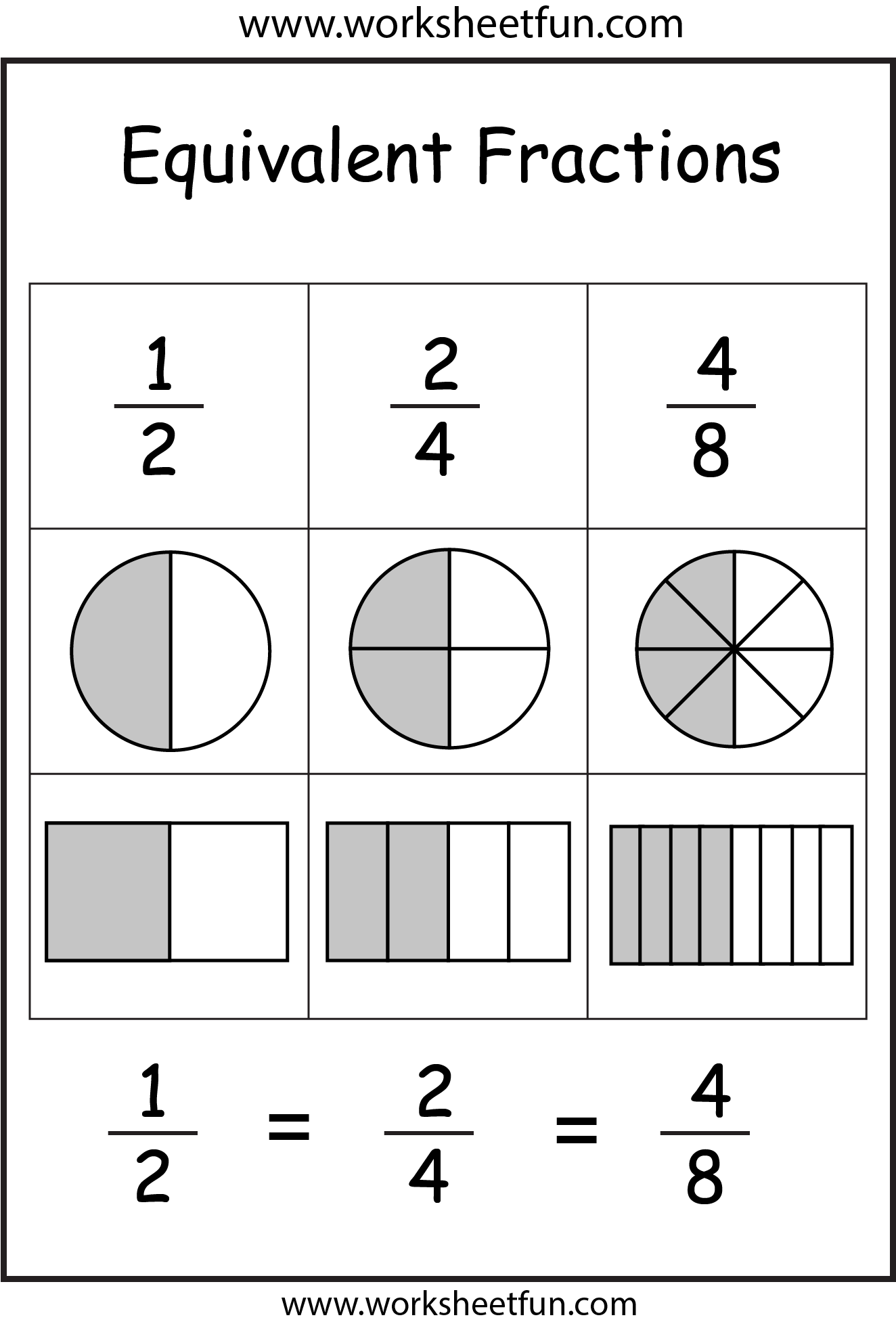 Fractions Fractions Worksheets And Worksheets