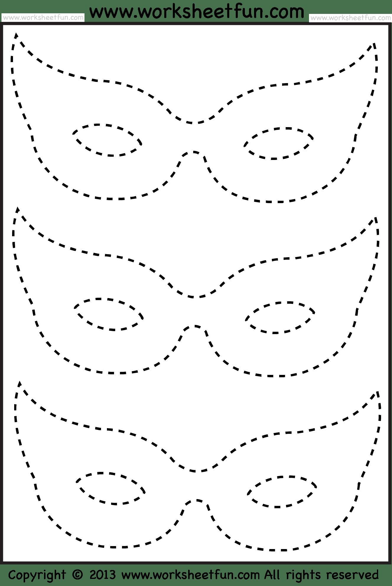 Mask Tracing 1 Worksheet Free Printable Worksheets