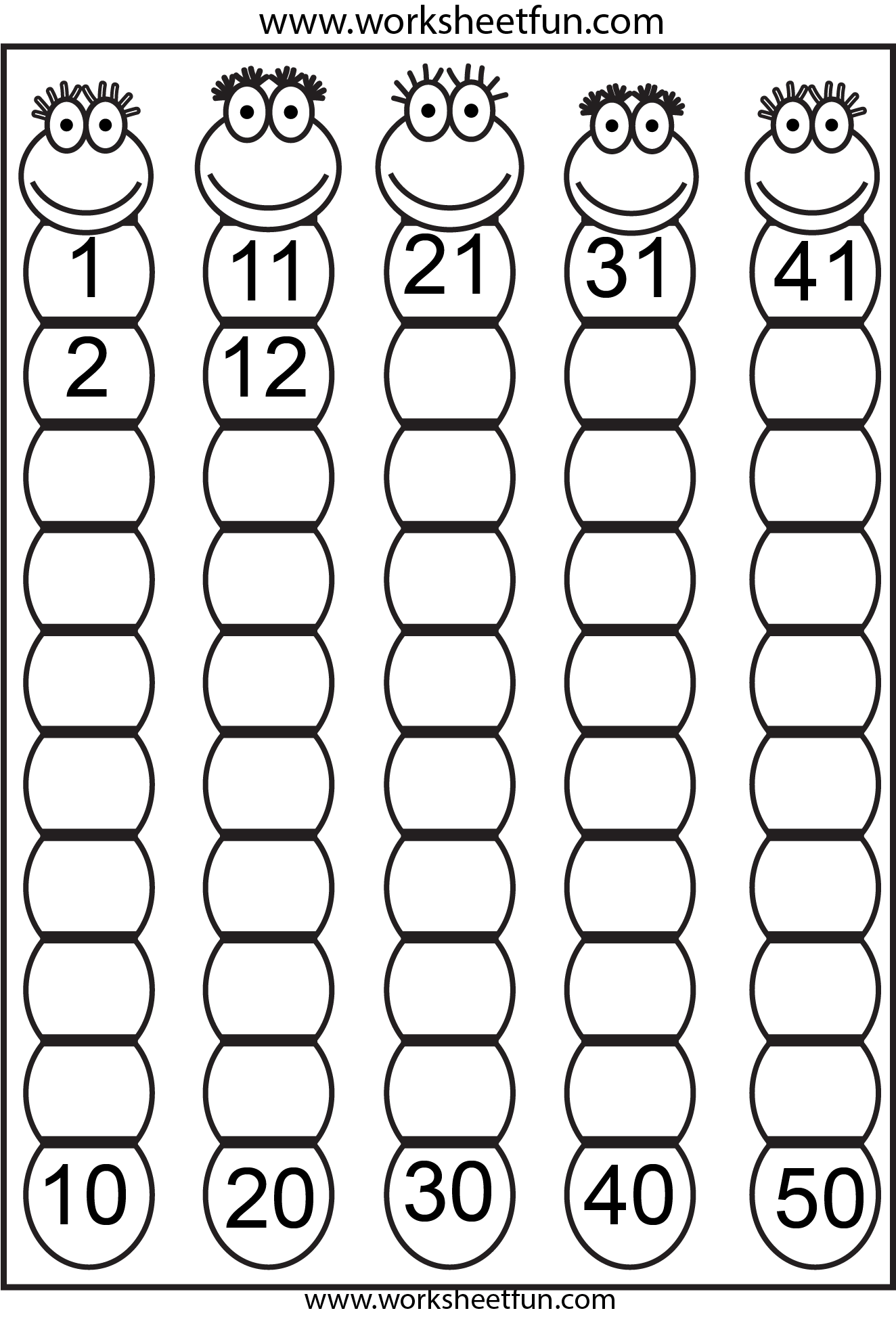 Worksheet Numbers 20 30