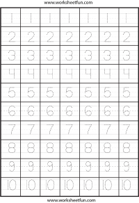 Tracing Number Tracing Free Printable Worksheets