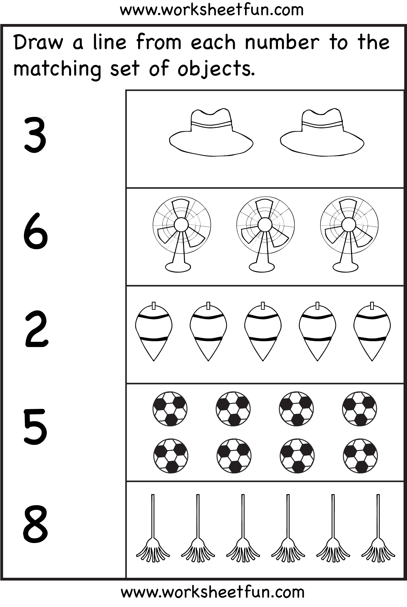 New 986 Counting Objects To 20 Free Worksheets