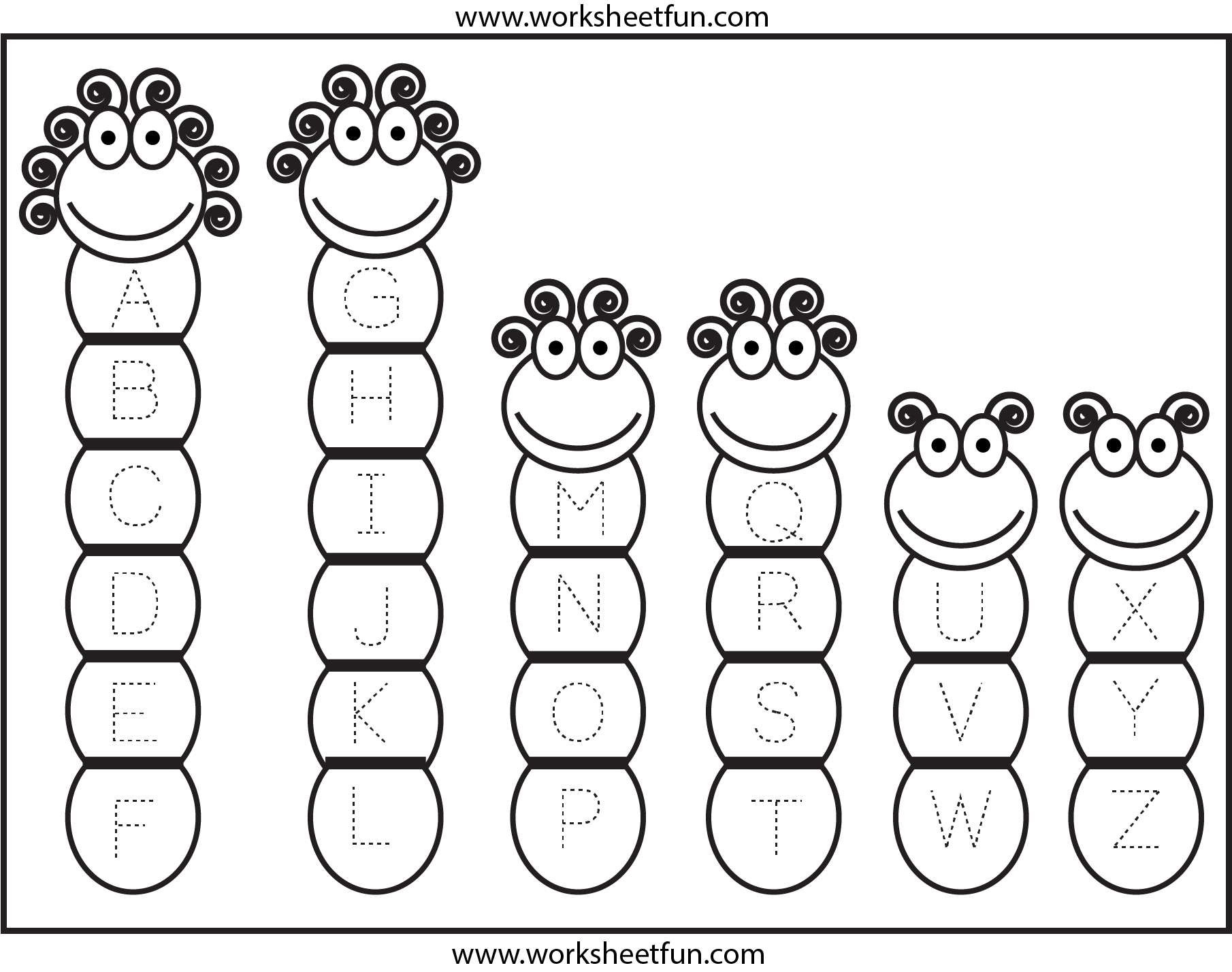 Tracing Uppercase Letters Capital Letters Free
