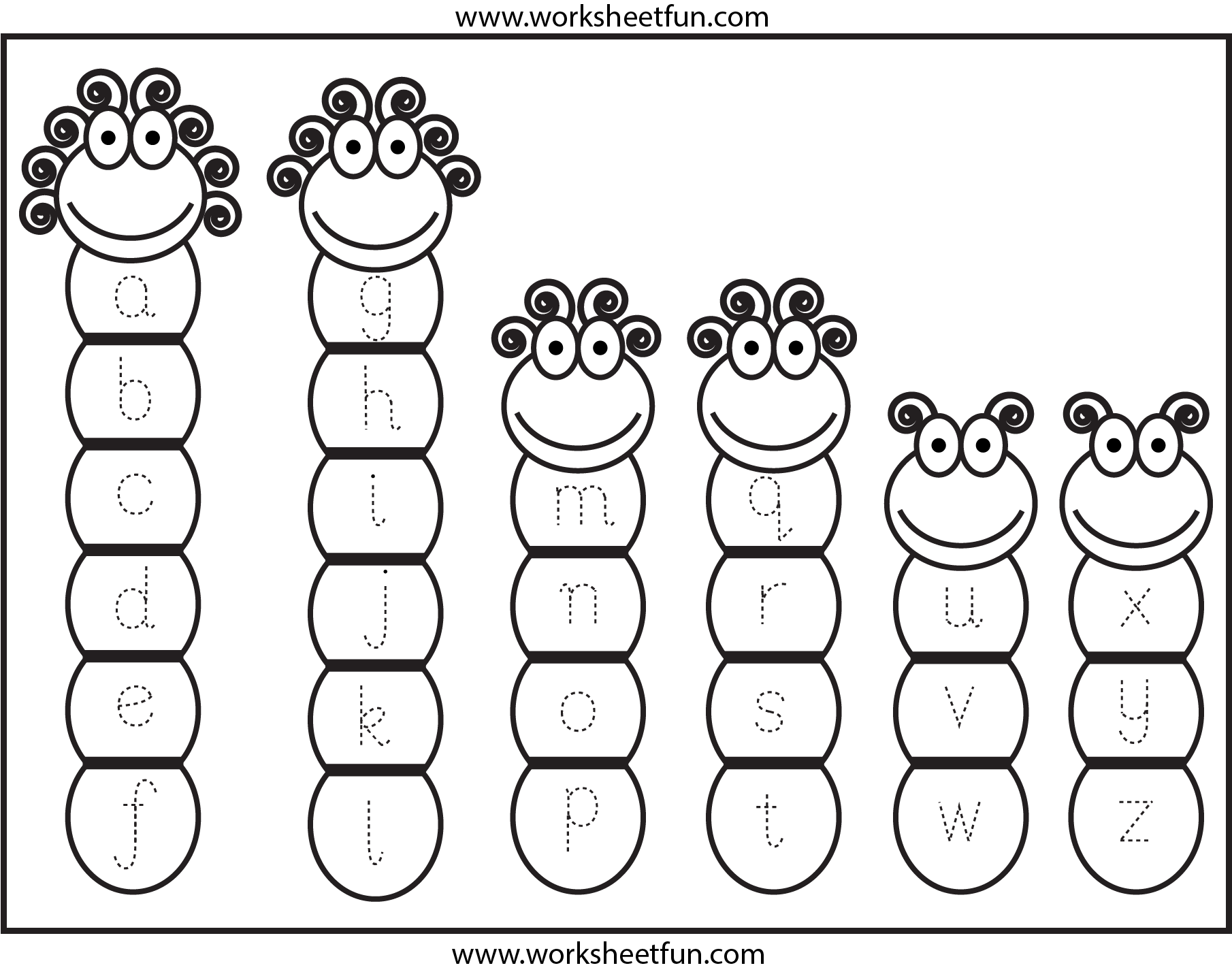 Tracing Lowercase Letters Small Letters Free