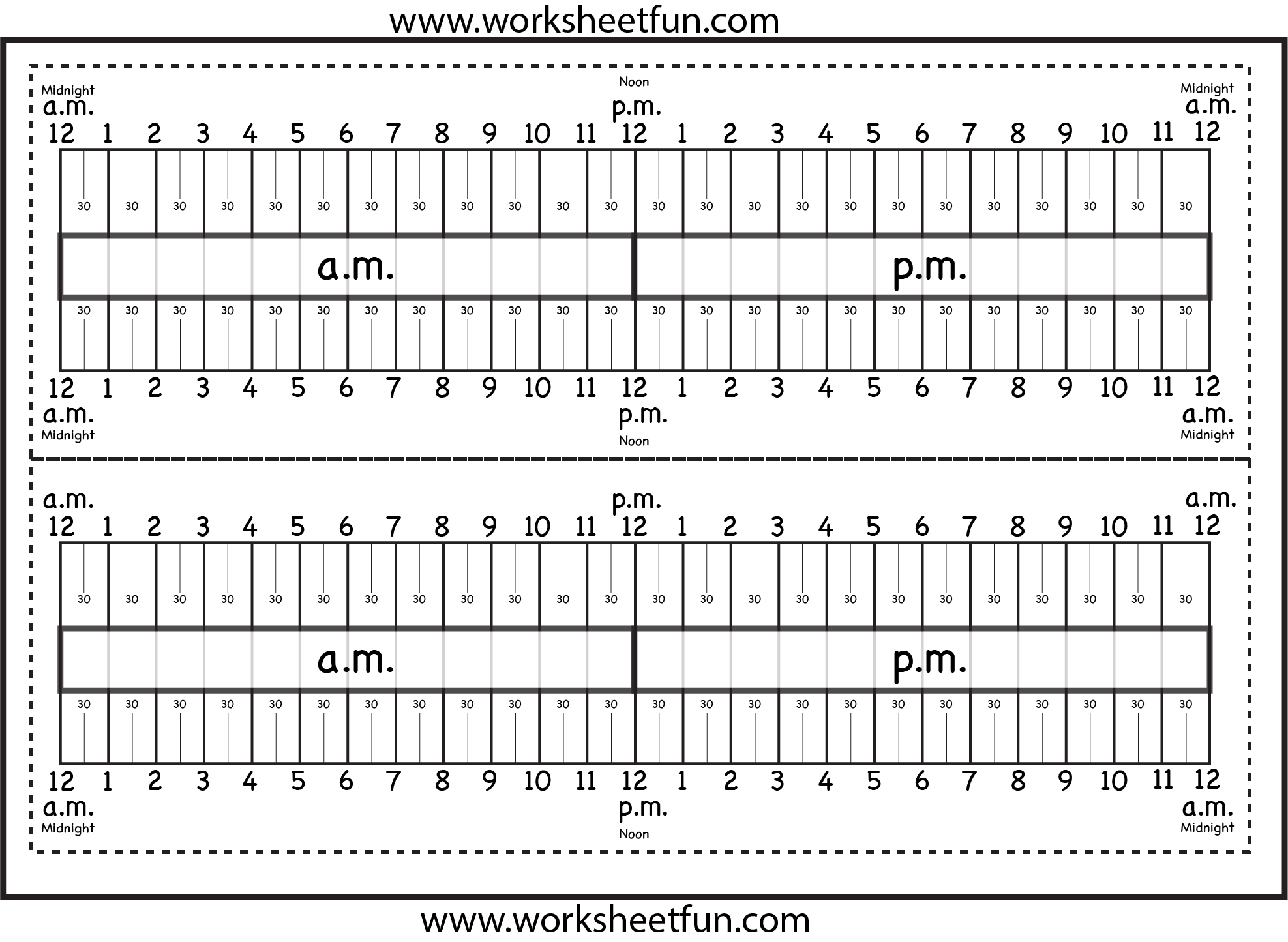 Level 2 Elapsed Time Ruler Six Worksheets Free Printable Worksheets Worksheetfun