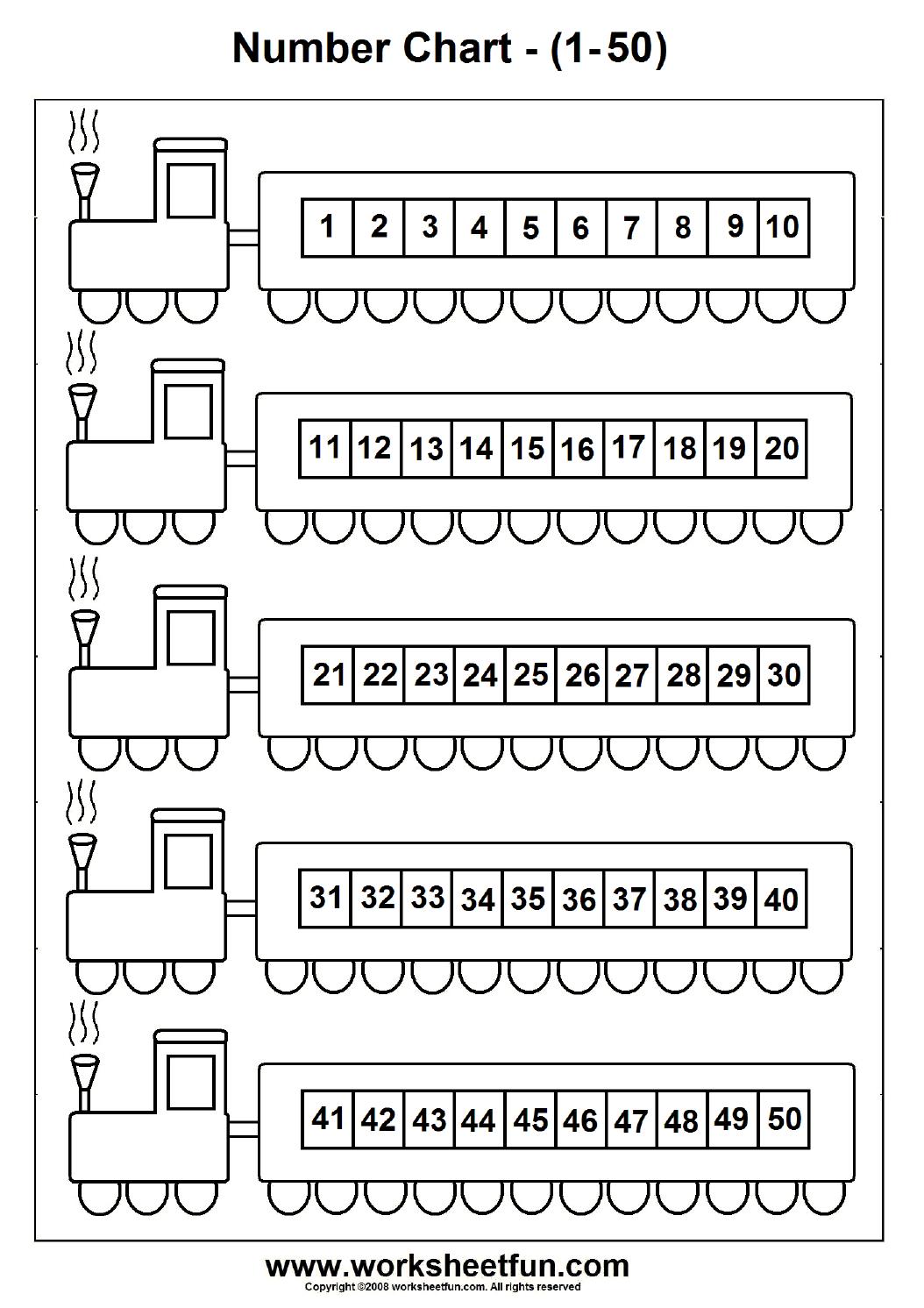 Number Chart 1 50 Free Printable Worksheets Worksheetfun