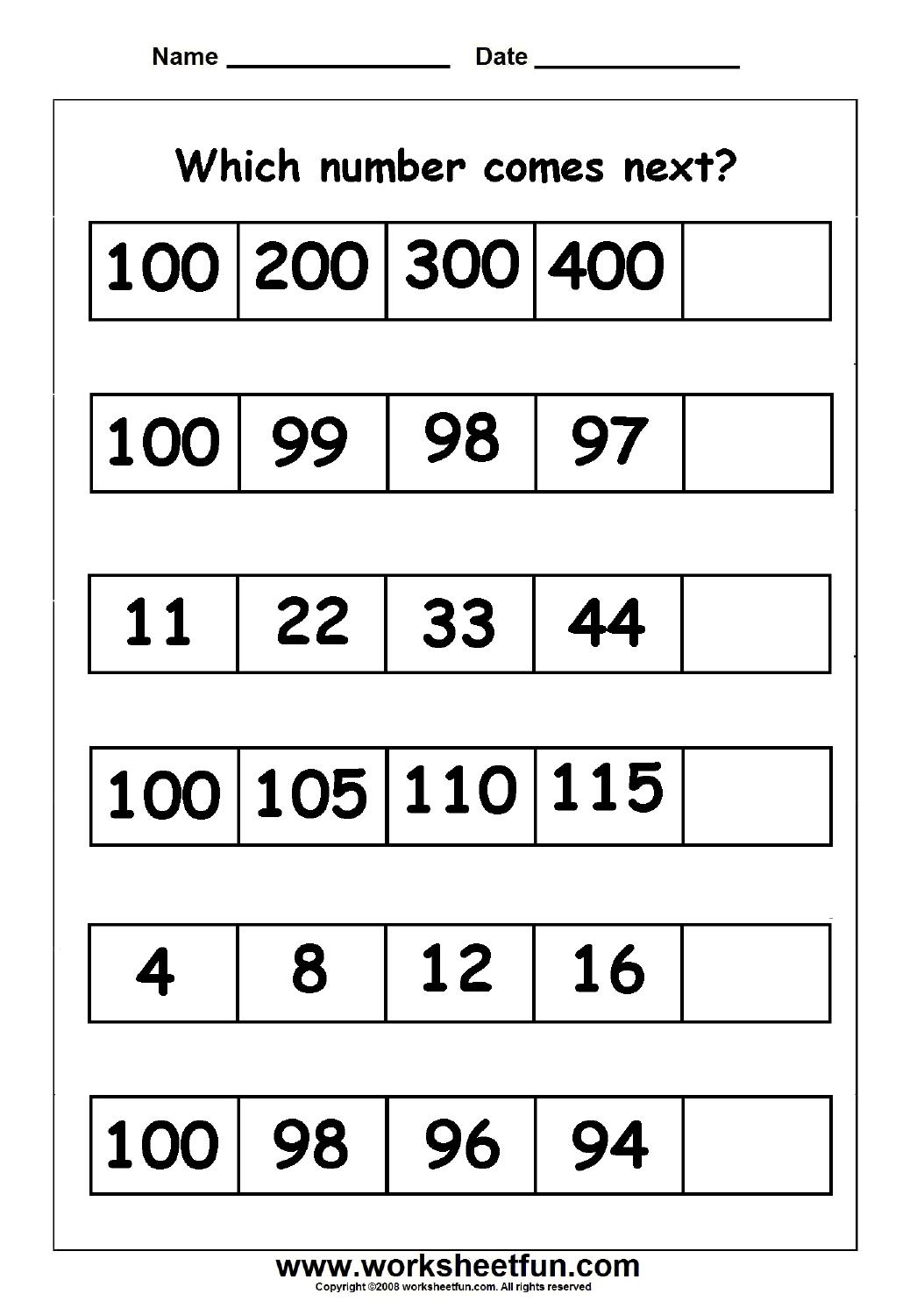 Skip Counting Missing Numbers 9 Worksheets Free