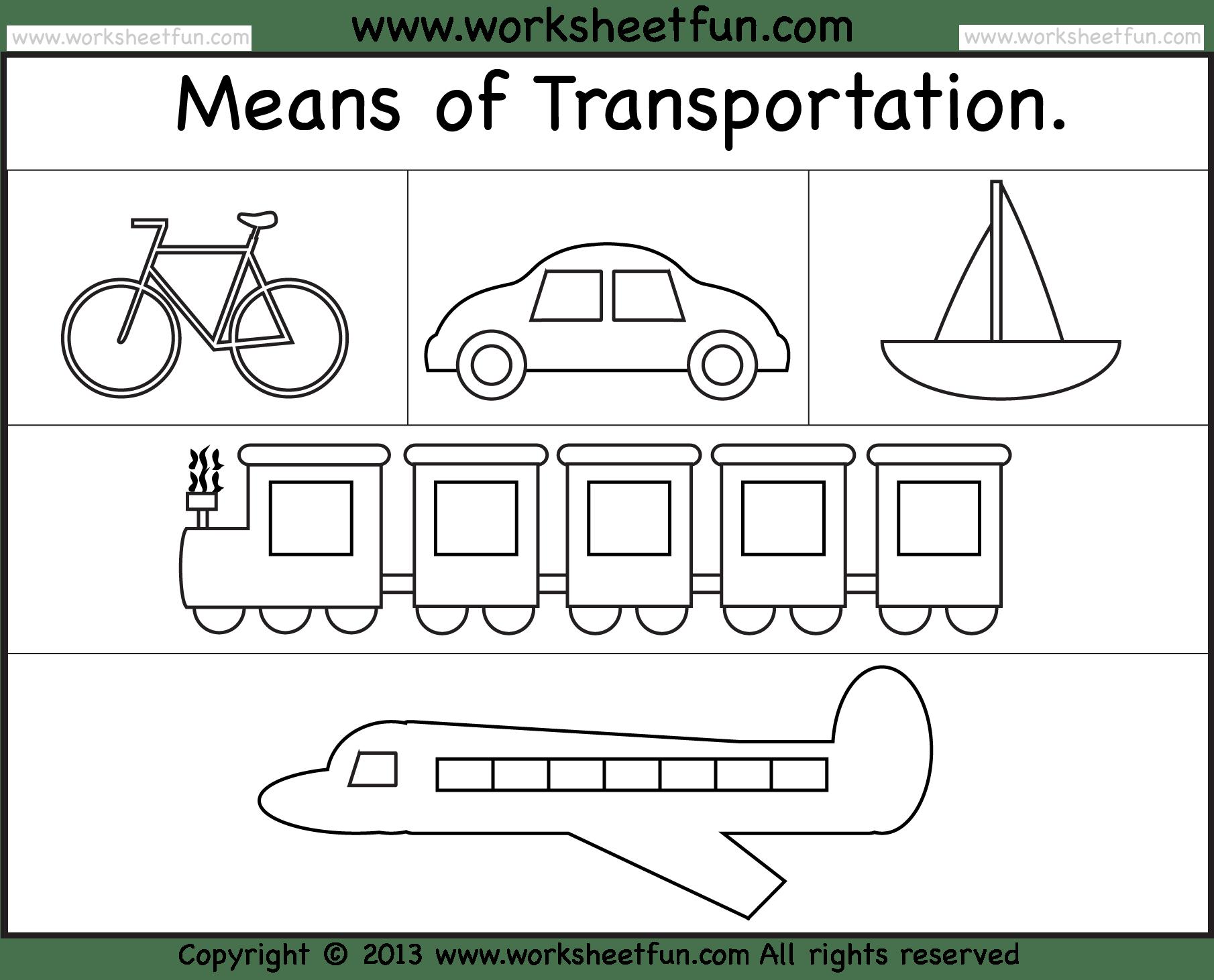 Means Of Transportation Worksheet Free Printable