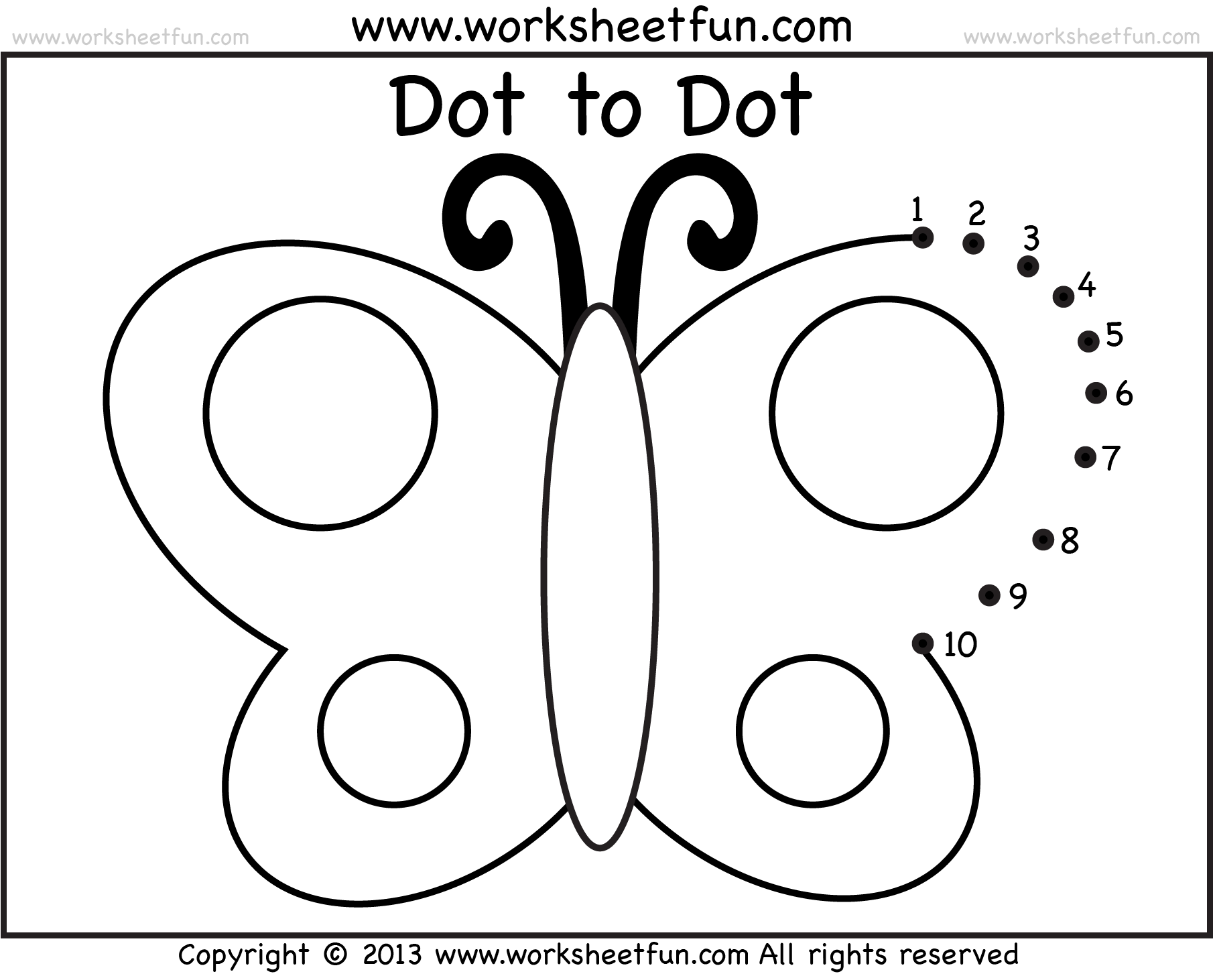 Dot To Dot Worksheet Clothes