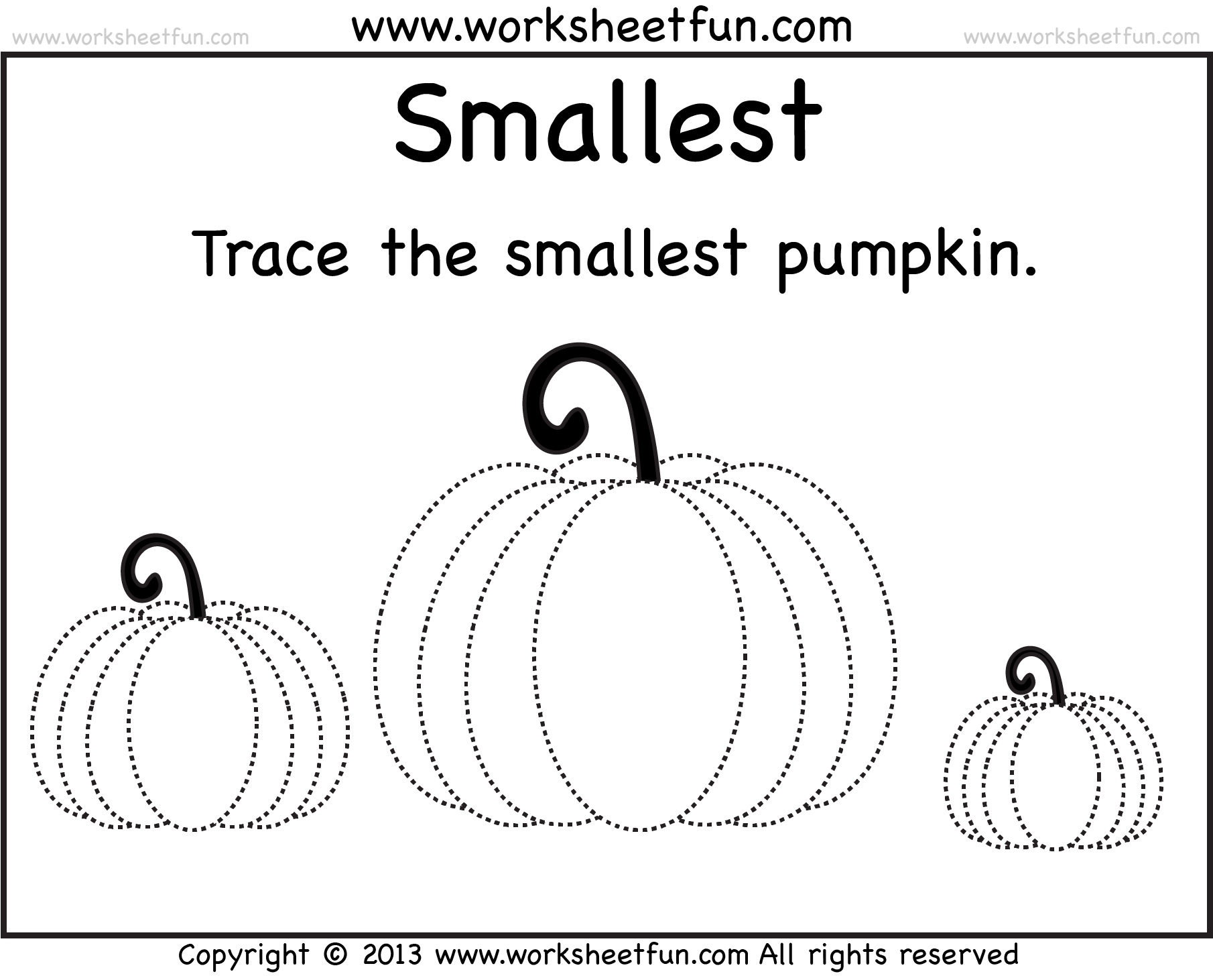 Pumpkin Tracing 2 Worksheets Free Printable Worksheets