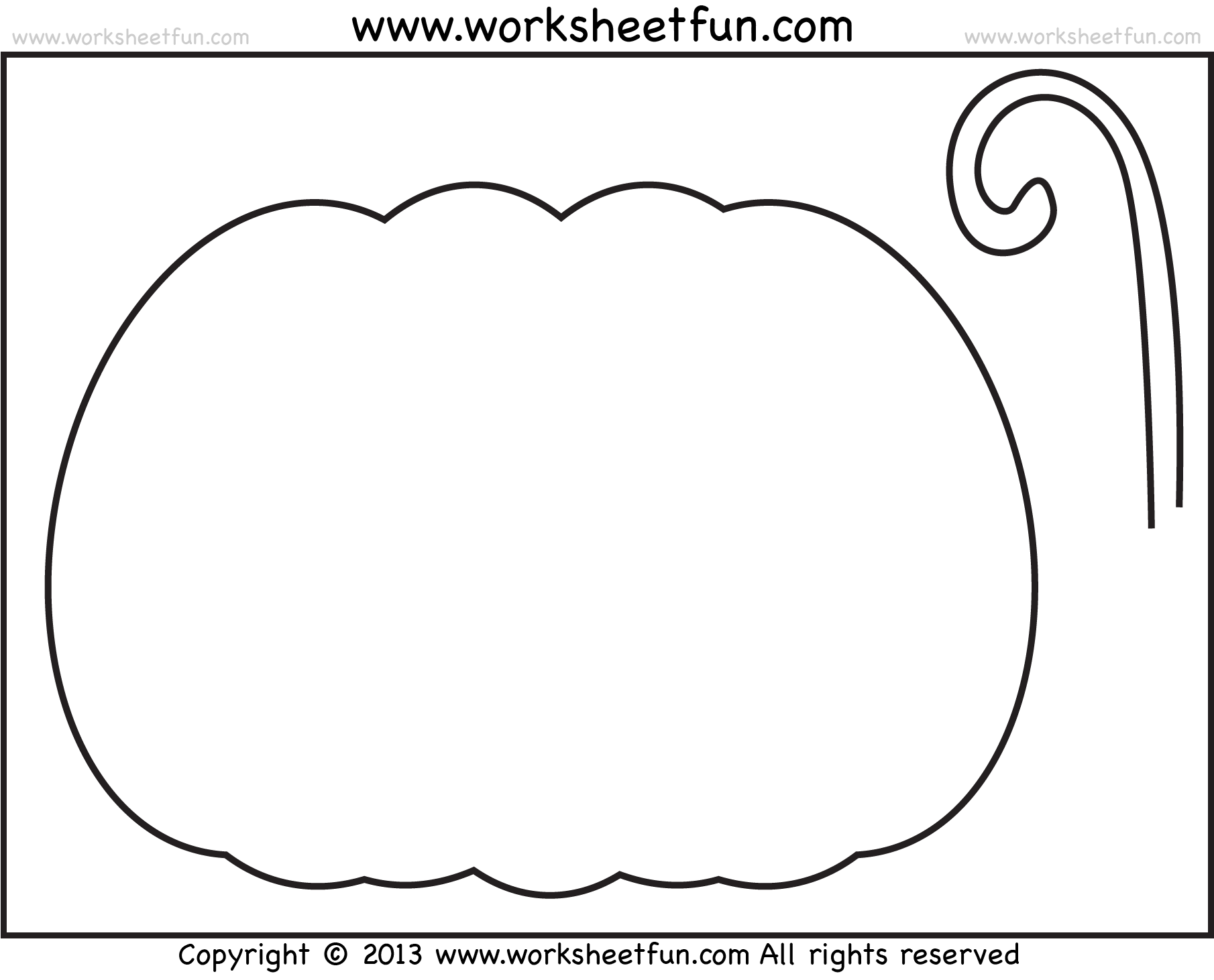 Halloween Printable Stencils For Pumpkin 2 Worksheets