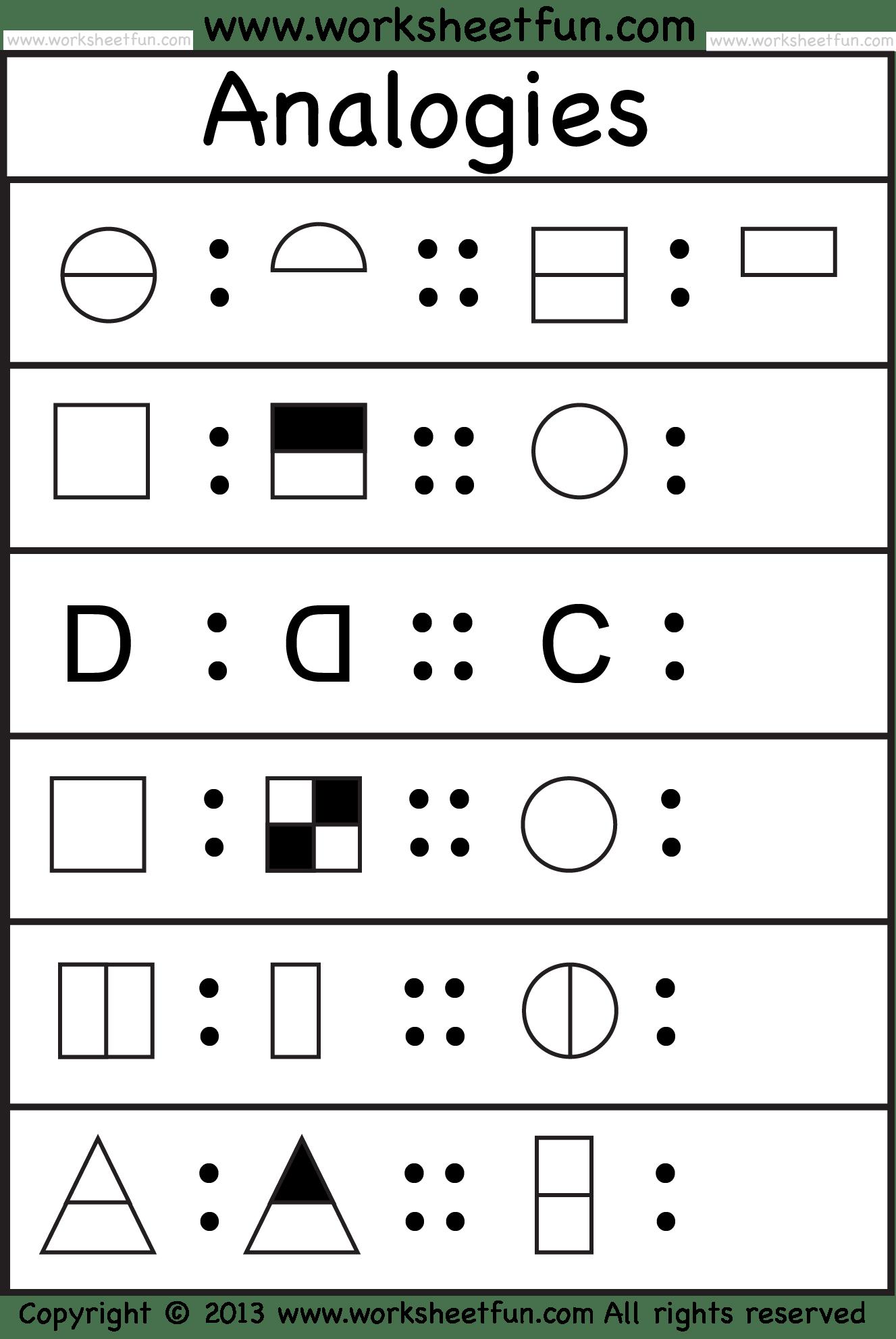 Pictureogies 4 Worksheets Free Printable