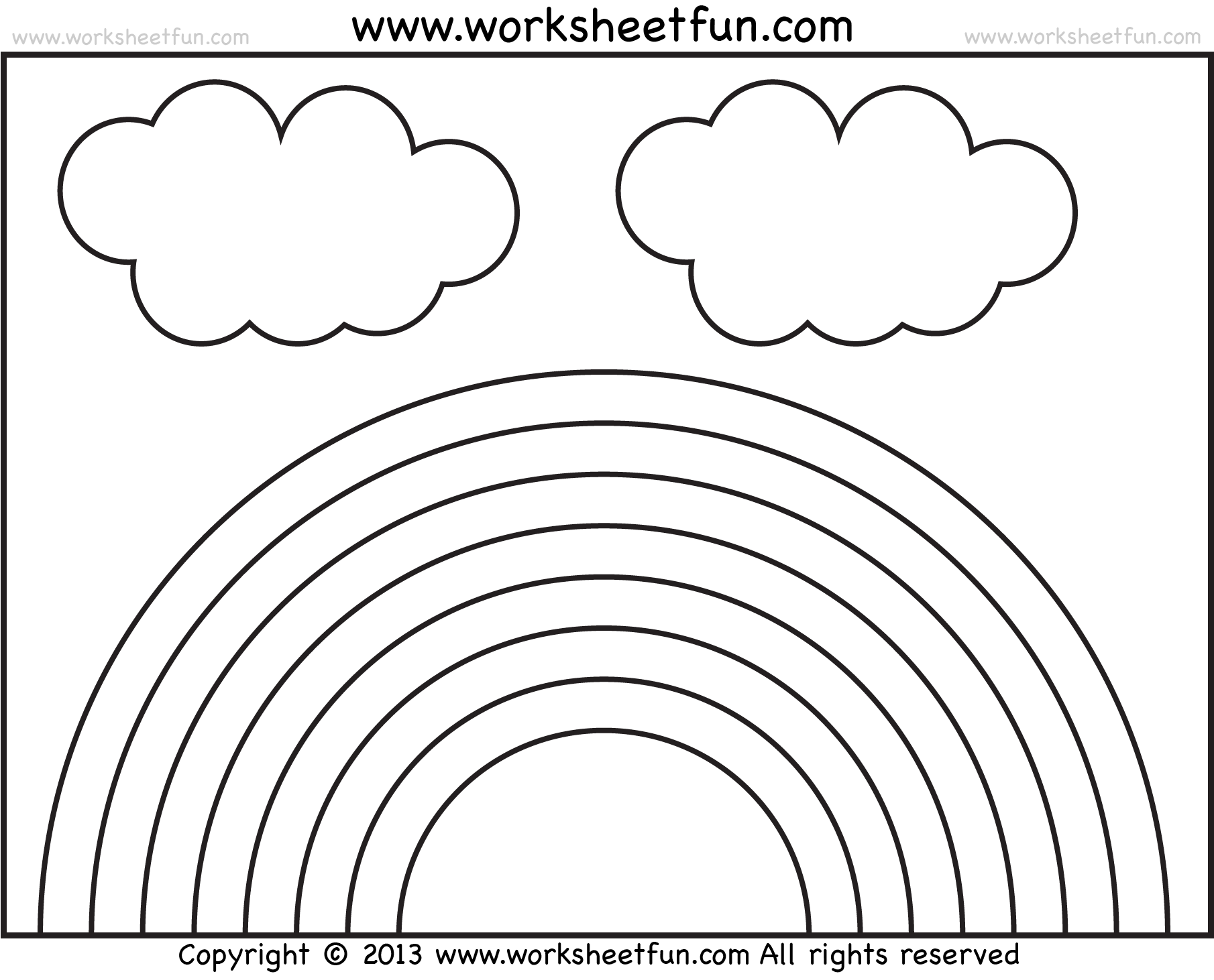 Rainbow Worksheets For Kindergarten