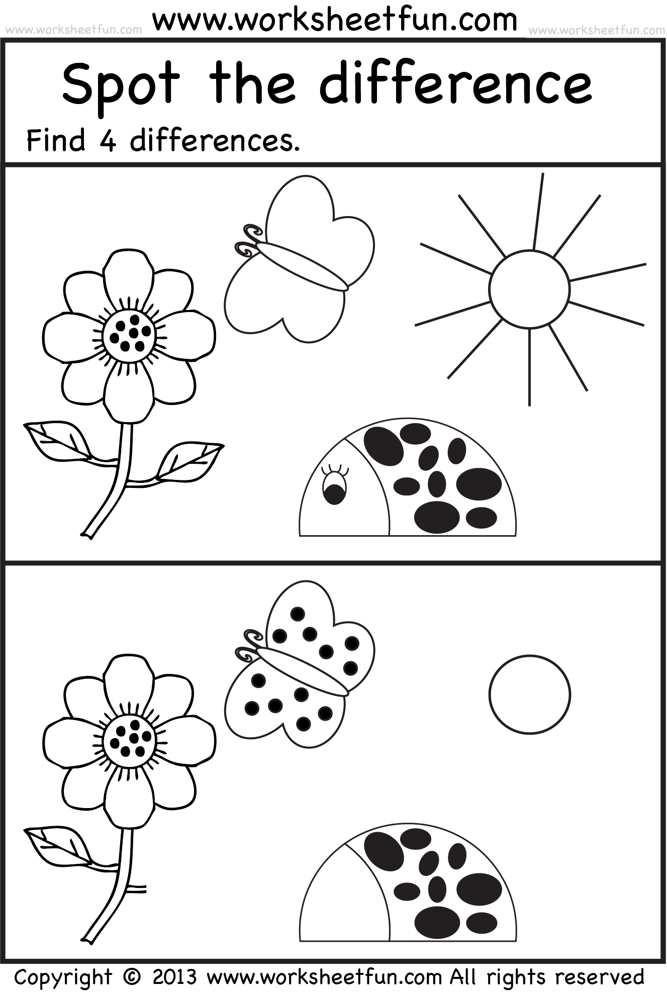 Spot The Difference 7 Worksheets Free Printable