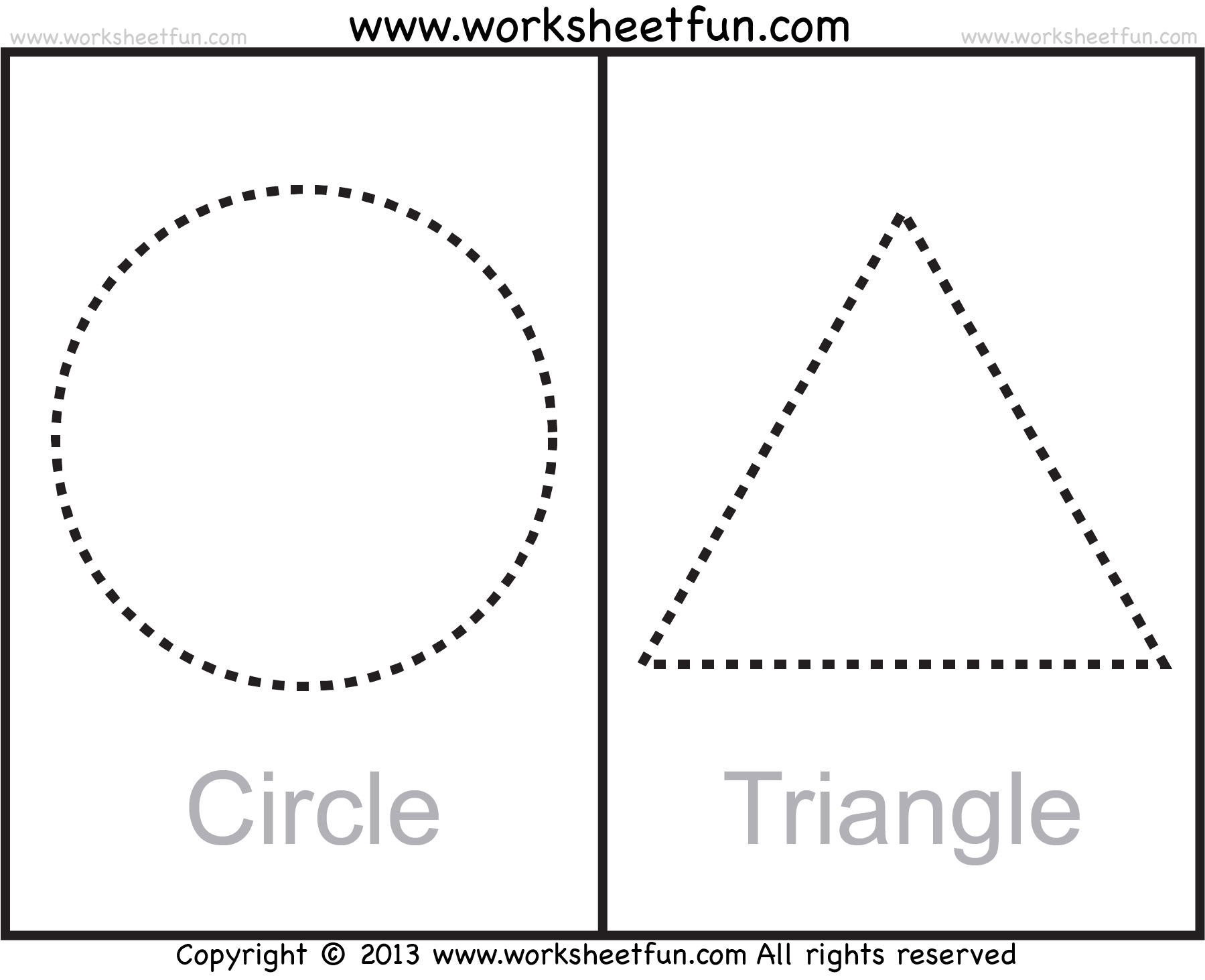 Oval Shape Tracing Worksheet