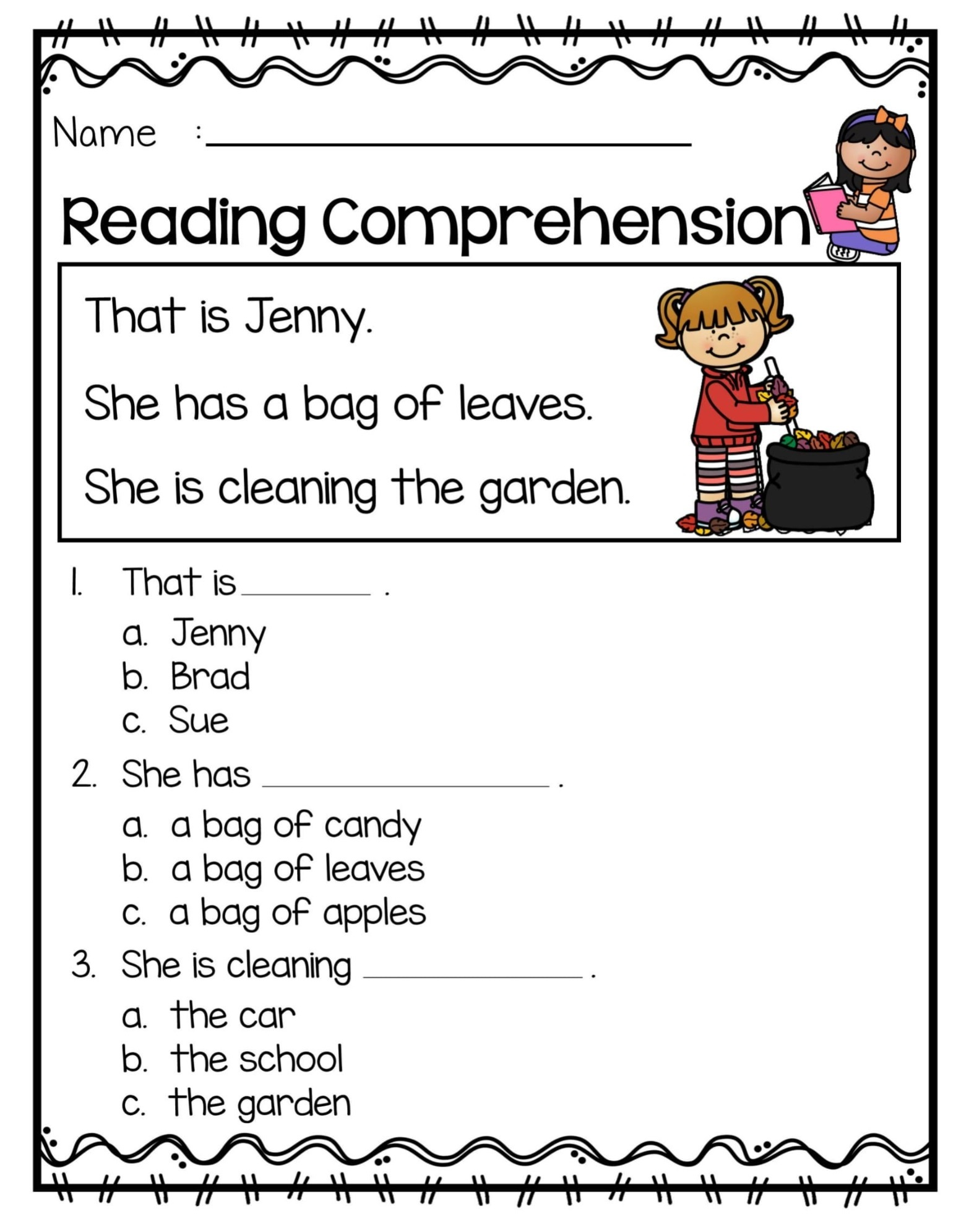 Amazing Reading Comprehension Worksheet For Grade 1