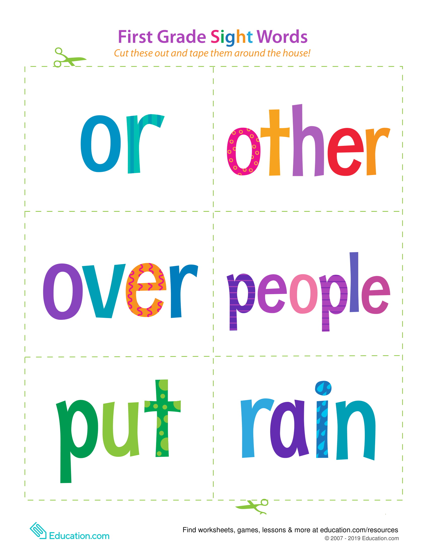 Fun Games To Teach Sight Words For A First Grader